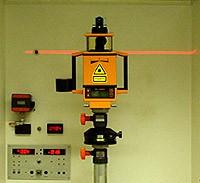 tia laser đo lường thiết lập